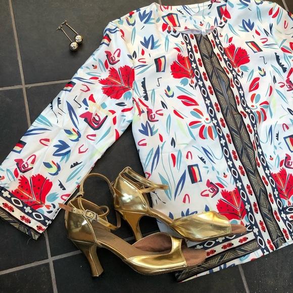 Silky patterned blazer